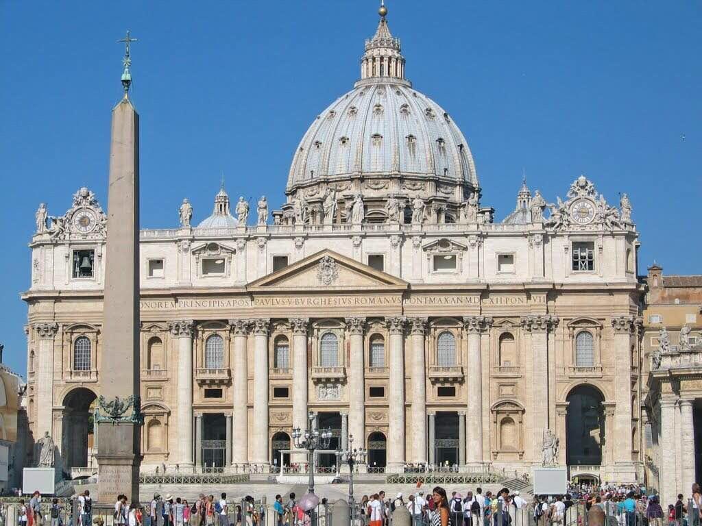 世界第一大圆顶教堂,罗马基督教的中心教堂,梵蒂冈罗马教皇教廷和