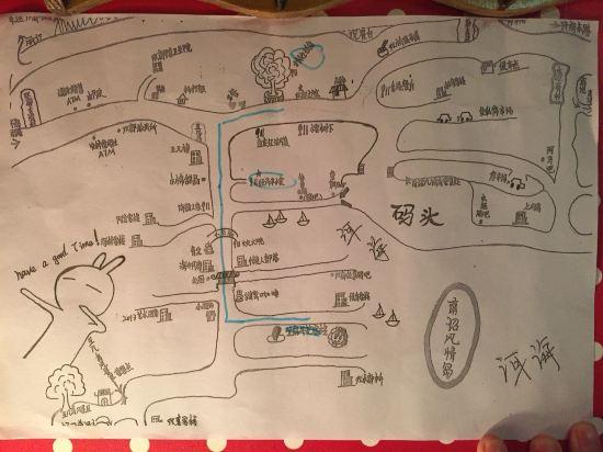 双廊旅游手绘地图