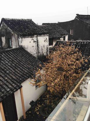 古代别院风景图片