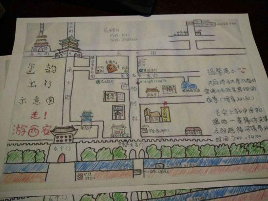 西安火车站手绘图片大全